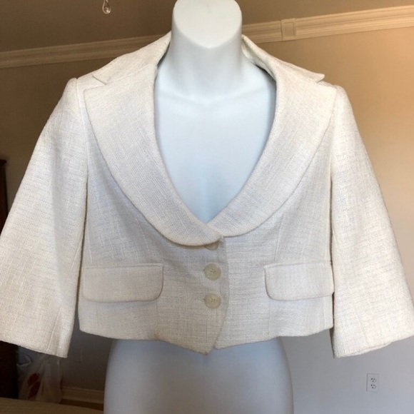 Robert Rodriguez cropped tweed jacket